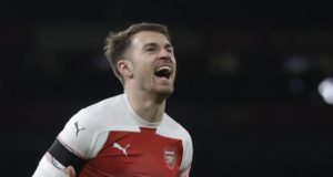 Aaron Ramsey Merayakan Gol Bersama Arsenal