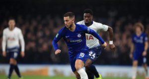 Eden Hazard Dalam Pertandingan Chelsea Melawan Tottenham Hotspur