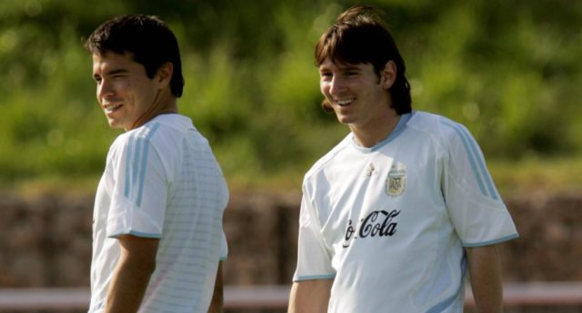 Javier Saviola dan Lionel Messi