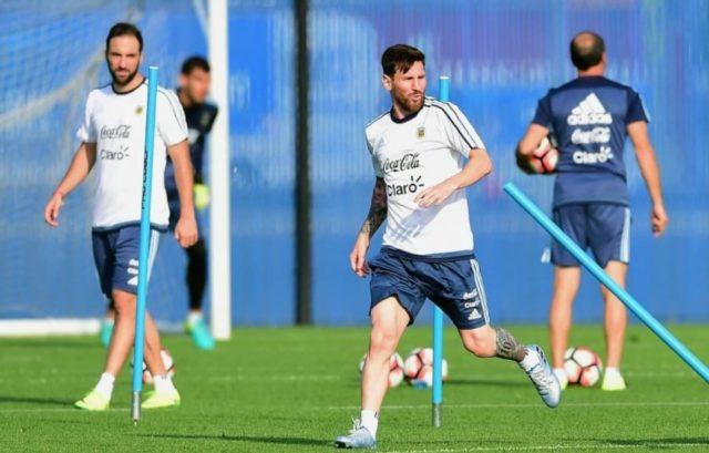 Lionel Messi Berlatih Bersama Timnas Argentina