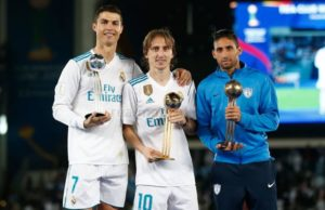 Luka Modric and Cristiano Ronaldo