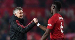 Ole Gunnar Solskjaer Berjabat Tangan Dengan Paul Pogba