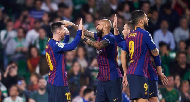 Selebrasi Barcelona FC