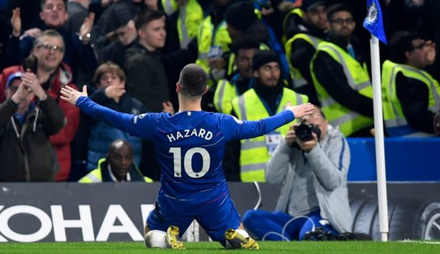 Eden Hazard Selebrasi Kemenangan Chelsea FC