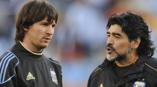 Lionel Messi dan Diego Maradona