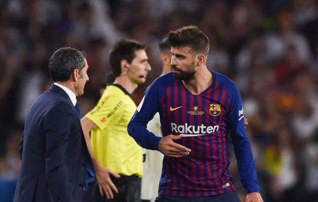 Gerard Pique Bersama Pelatih Barcelona FC