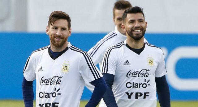 Lionel Messi dan Sergio Aguero