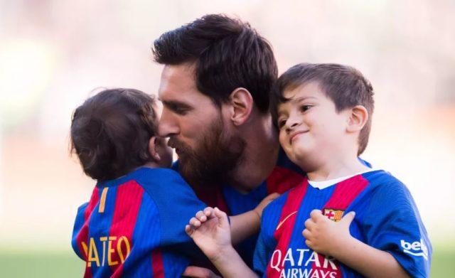 Lionel Messi dan Anaknya
