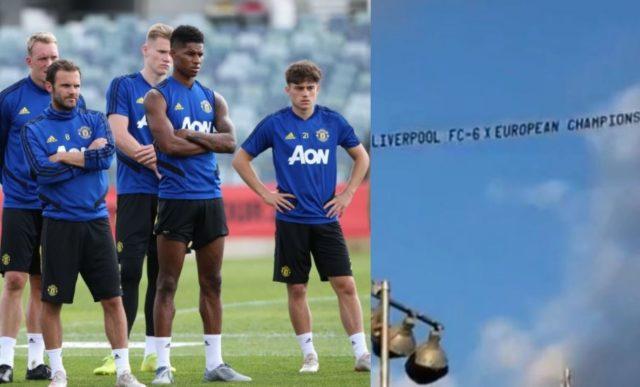 Fans Liverpool Sindir Manchester United Di Australia Menggunakan Pesawat