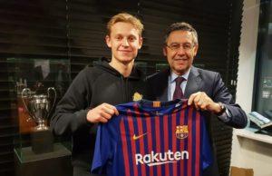 Frenkie De Jong dan Presiden Barcelona FC