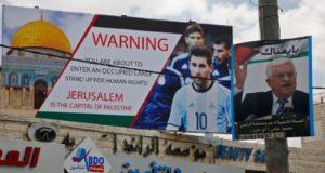 Lionel Messi di Billboard Palestina