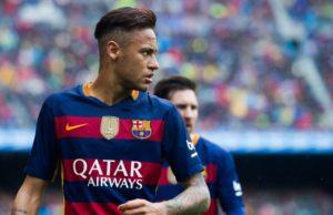 Neymar Dengan Seragam Barcelona FC