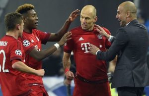 Arjen Robben dan Josep Guardiola