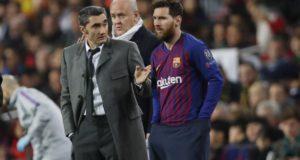 Ernesto Valverde dan Lionel Messi