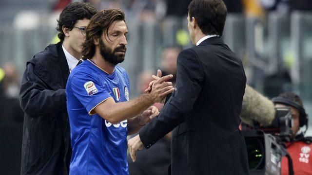 Massimiliano Allegri Sindir Andrea Pirlo Di Juventus