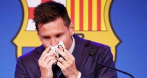 Messi Berpidato Terakhir Di Barcelona